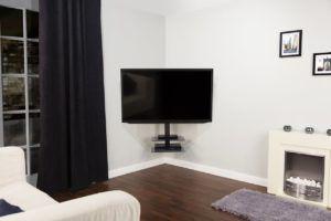 Corner Tv Wall Bracket With Shelf