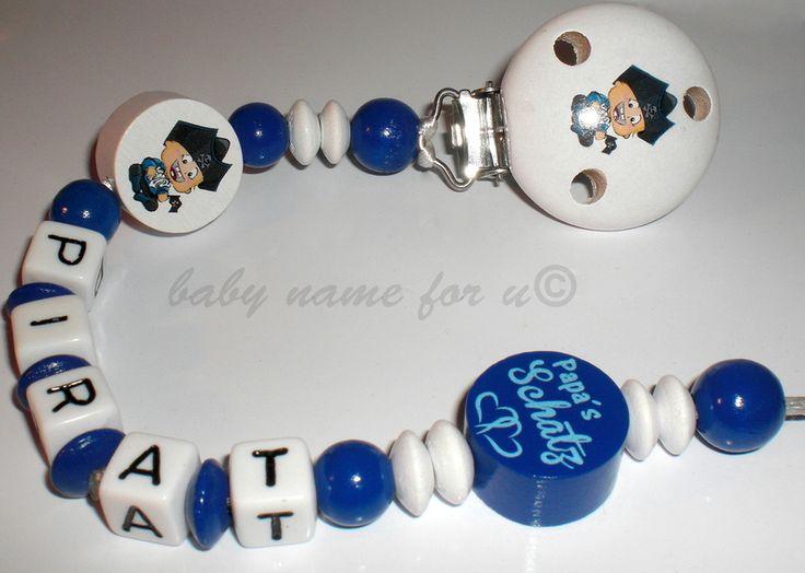 Schnullerkette mit Namen von baby name for u auf DaWanda.com