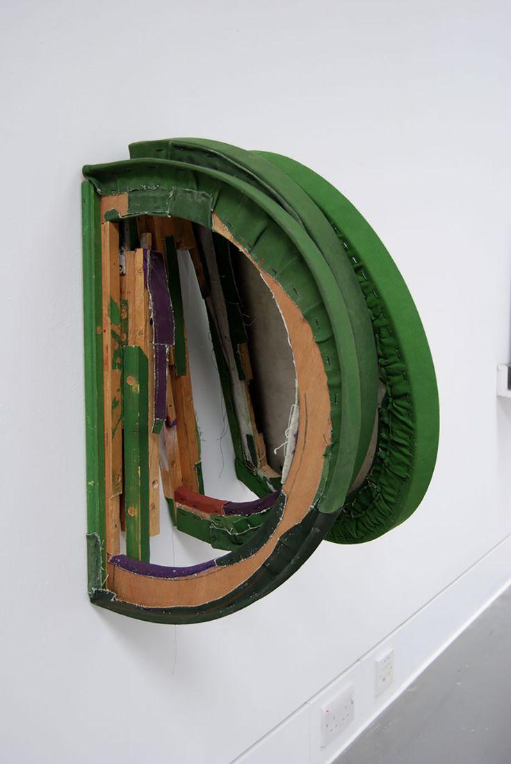 <b>Title:</b>Chromium Oxide Cut Pit Painting Oblique<br /><b>Year:</b>2013<br /><b>Medium:</b>Oil, distemper, canvas, wood, aluminium and steel<br /><b>Size:</b>43.5 x 57 x 40 cm