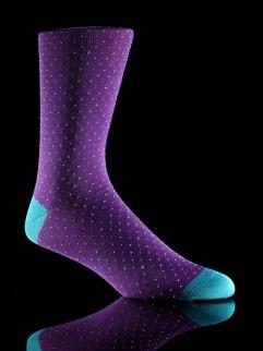 #mensocks #polkadots #purple http://www.blacksocks.com/