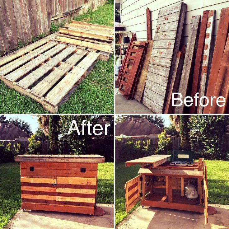 Backyard Mobile Kitchen and Bar Pallet DIY