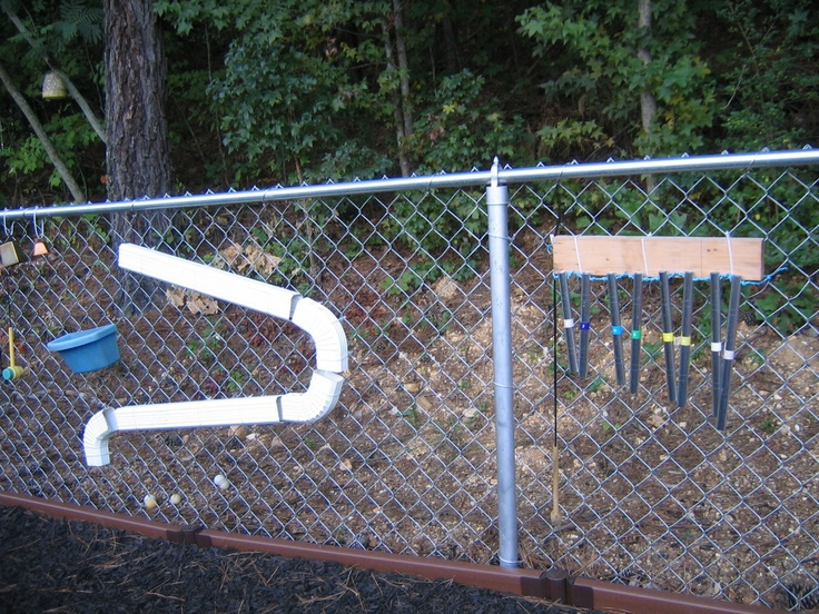 making good use of a chain link fence