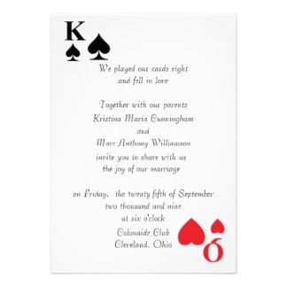 Playing Card Invitation Template