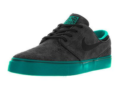 Nike Men's Zoom Stefan Janoski Black/Black Rio Teal Hypr Jade Skate Shoe 13  Men