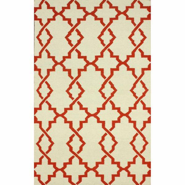 Nuloom Handmade Morroccan Trellis Wool Flatweave Kilim