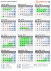 Kalender 2017 + Ferien Hamburg, Feiertage