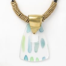 Gifted Necklace - jade watercolor