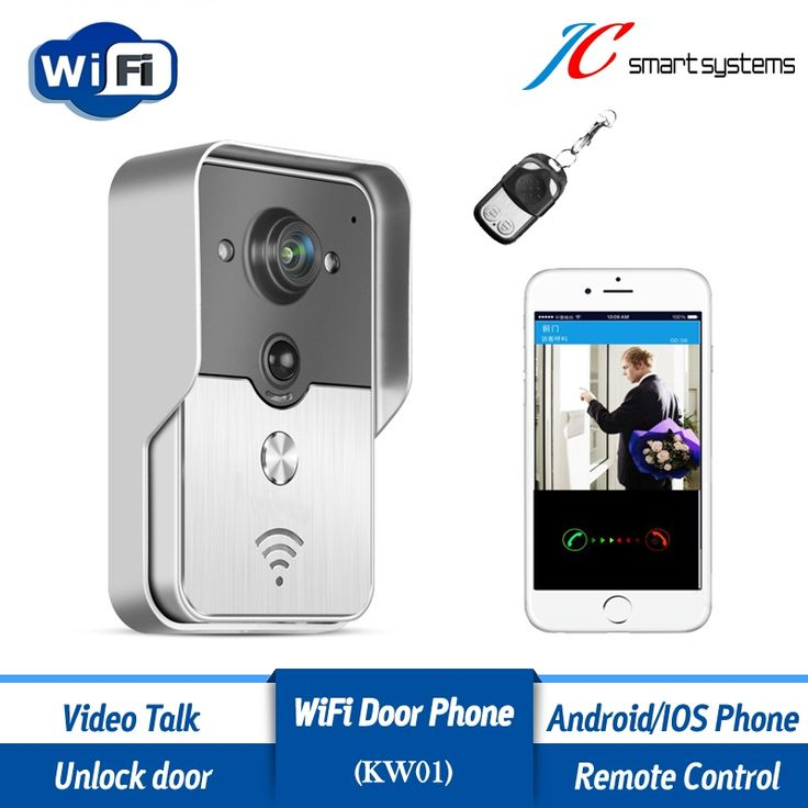(105.00$)  Watch here - http://aifw1.worlditems.win/all/product.php?id=32799072306 - Porteiro eletronico wifi interfone video phone wireless wifi doorbell camera with night vision