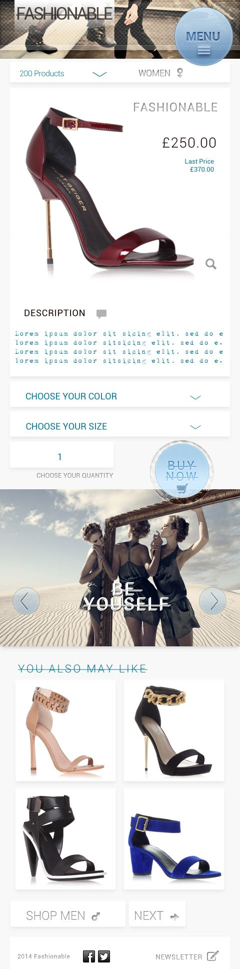 Fashionable Mobile Product Page