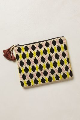 Anthropologie Beaded Dewdrop Pouch