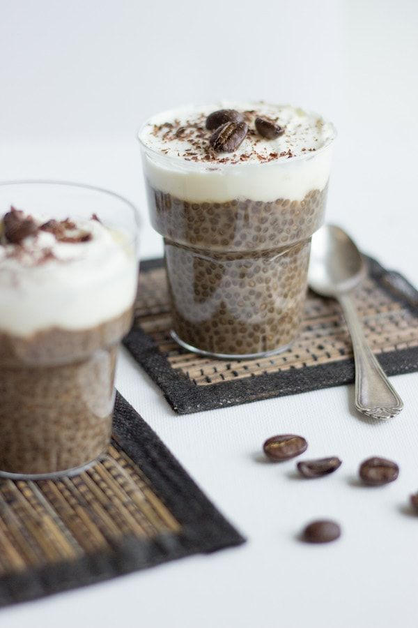 Coffee Chia Pudding. Easy to make and the perfect dessert whenever you're craving something indulgent but want something healthier.