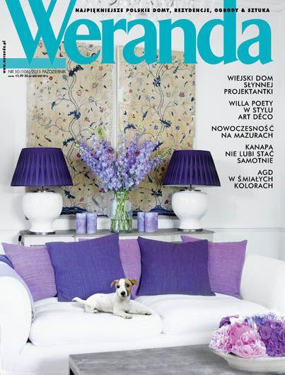 Okładka magazynu Weranda 10/2011 www.weranda.pl