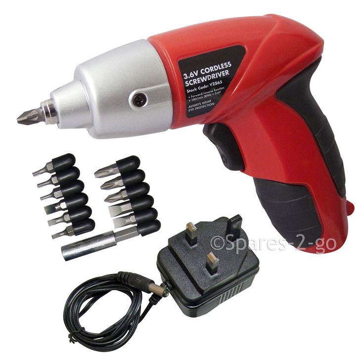 19/04/2017 ebay UK £11.95 Rechargeable Cordless Electric Screwdriver Power Tool + Bits + Charger