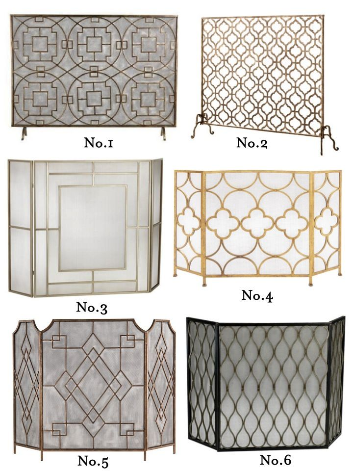 stylish fireplace screens