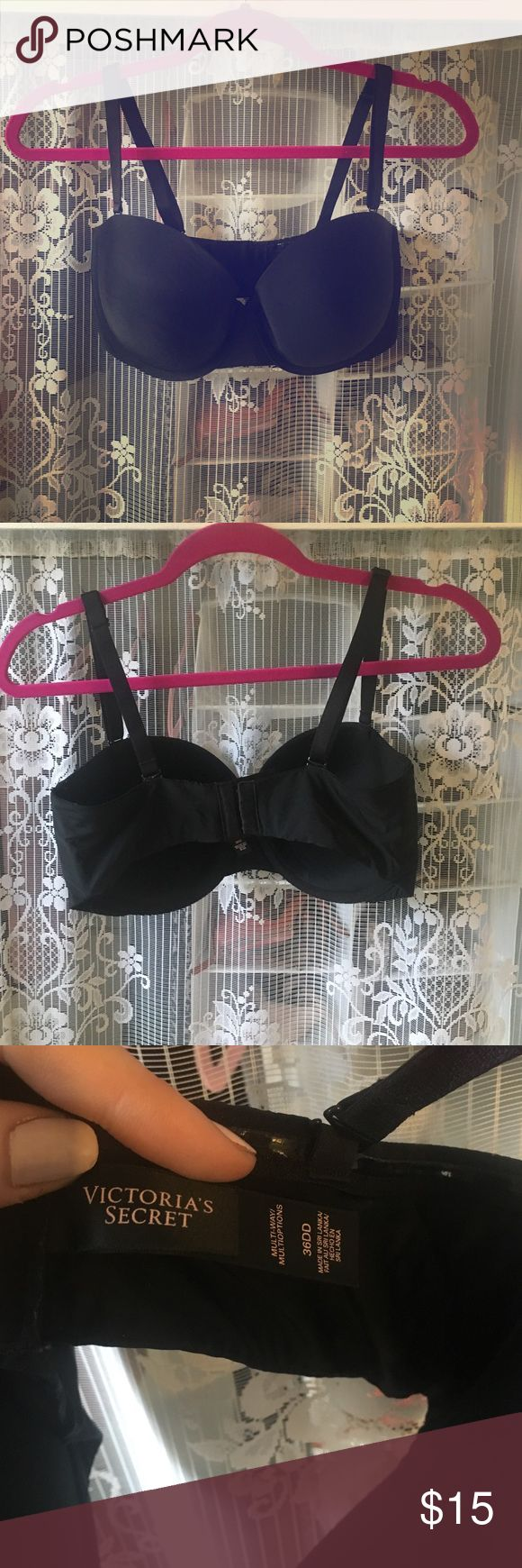 Victoria's Secret Strapless Bra This is a closet essential from Victoria's Secret. It can be worn strapless and has piping to help it stay up. It also has the straps for more versatility! EUC. Size 36DD. Victoria's Secret Intimates & Sleepwear Bras