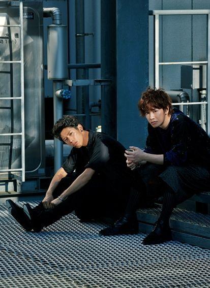"takeruzone: "" Sato takeru and TAKA 'ONE OK ROCK' in CUT Magazine 2014. Photographed by Tajima Kazunali """
