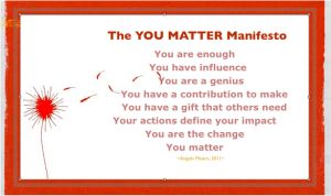 You matter manifesto  Personal and social capability ACARA