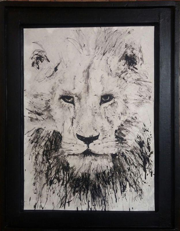 lion, ink