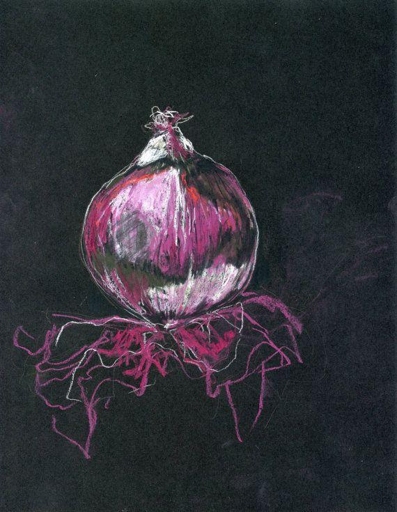 Red Onion Chalkboard Drawing Downloadable by RachelsChalkboards, $5.00