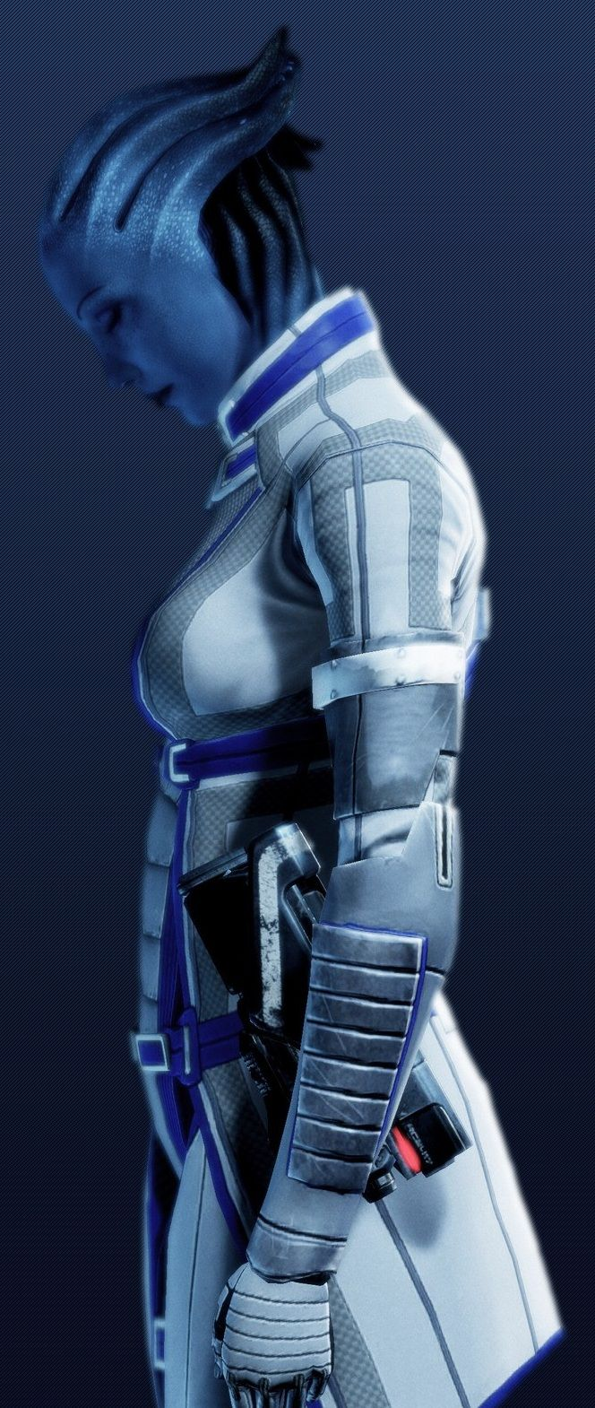 Liara T'Soni, Shadow Broker. One of my favorite characters of all time. Complex and endearing.