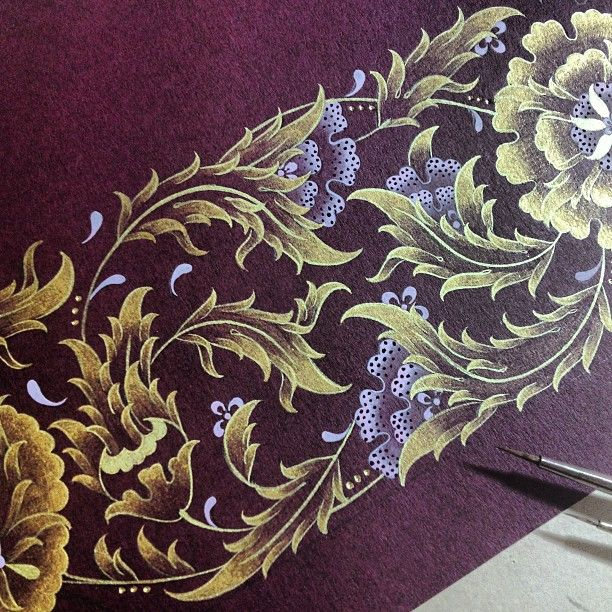 "409 Likes, 26 Comments - Dilara Yarcı Diniz (@dilarayrc) on Instagram: ""Detail.. #illumination #design #handmade #gold #islamicart #artwork #mywork #istanbul #turkey"""
