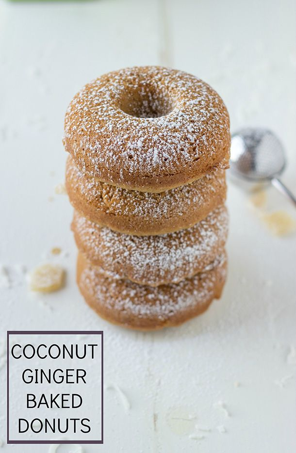 coconut ginger baked donuts homemade donuts donut shop baked doughnuts ...