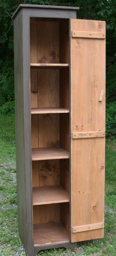 Tall country cupboard