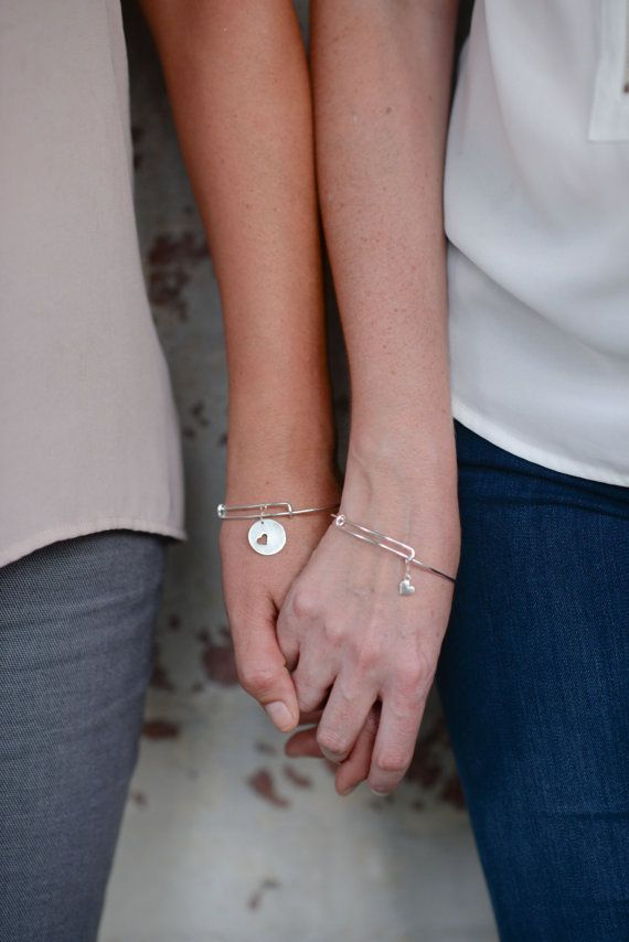 Mother Daughter Bangle Bracelets in Sterling Silver. Stacking Bracelets. Mom Daughter Jewelry. Birthday Gift.