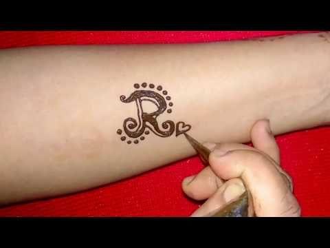 Diy R Letter Henna Tattoo Design Youtube Alphabet Tattoo Designs Henna Tattoo Designs Henna Tattoo