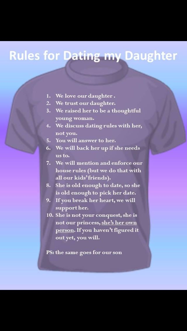 Country Rules For Dating My Daughter
