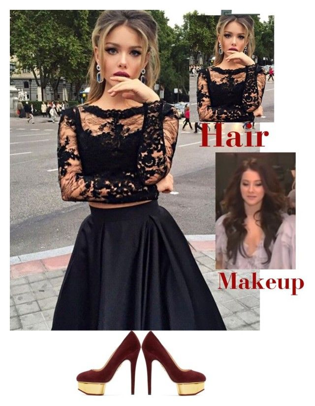 """На красную дорожку RU.TV 2016."" by marina14791 ❤ liked on Polyvore featuring beauty and Charlotte Olympia"
