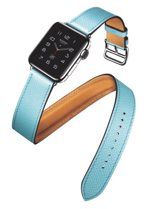 Apple Watch Hermès Montre connectée et bracelet double tour en cuir swift