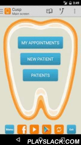 Cusp Dental Office DEMO  Android App - playslack.com ,  A mobile application for the dental office, intending to assist dentists manage their private practices. Cusp is a complete practice manager software for dentists. It can be installed on tablets, phones and Kindle devices. Languages: English, Russian, Español, Türkçe, Italiano, Portuguese, Ελληνικά, Română, Bengali.This is the demo version. It does not allow you to add new patients, but you can edit the demo patients and try all the…