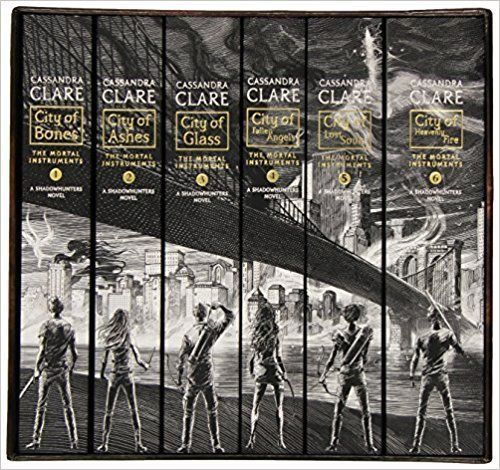 Amazon.com: The Mortal Instruments, the Complete Collection(City of Bones/ City of Ashes/ City of Glass/ City of Fallen Angels/ City of Lost Souls/ City of Heavenly Fire) (9781481444439): Cassandra Clare: Books   @giftryapp