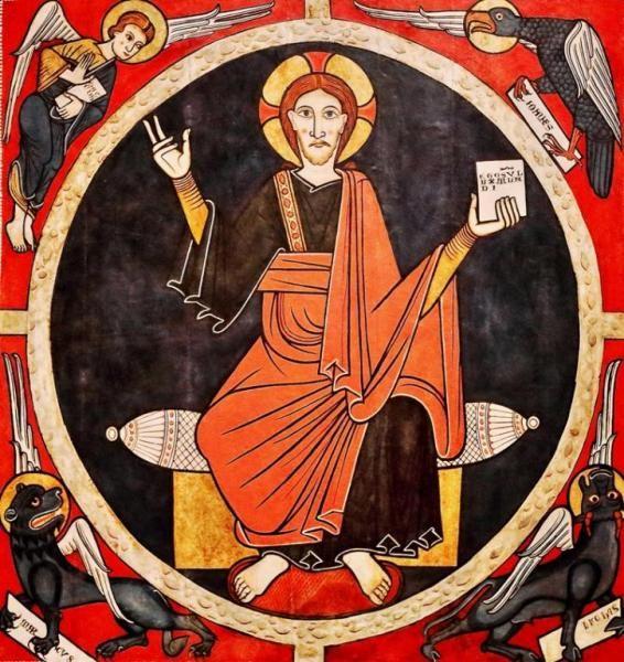 Baldaquino de Tost - Pintura románica, taller de la Seu de Urgell