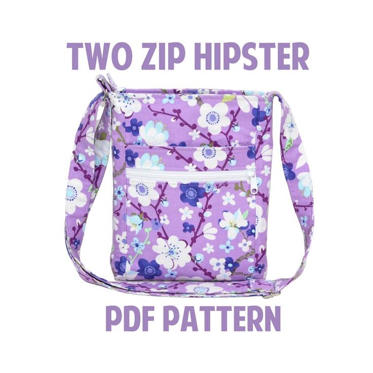 Two Zip Hipster PDF Sewing Pattern
