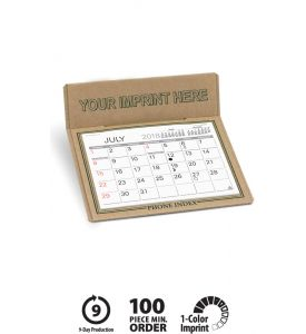 Product: 7D212 The Forest Desktop 2018 Calendar Basic custom imprint setup & PDF proof included! The Forest is a natural choice made from raw chipboard, a durable recycled cardboard material. Available with 4 different imprint color options, this custom desk calendars is a great 'green' promotional calendar option. Warwick / 655