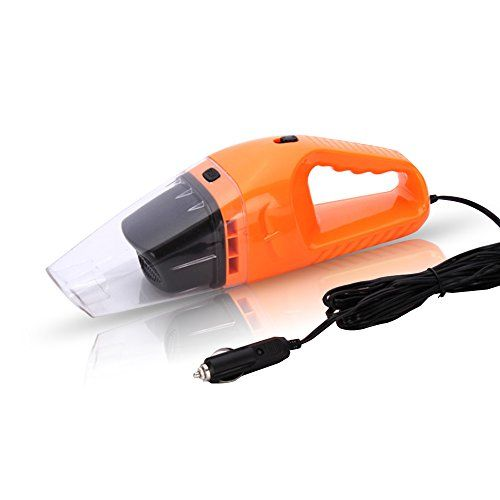 120W transportable Orange Dust buster Auto Handheld Cleaner moisten & dry and fresh automotive carpet cleaner Cleaner Handheld Vacuums ((16 FT ability Cord,Large suction,Multiple filters)