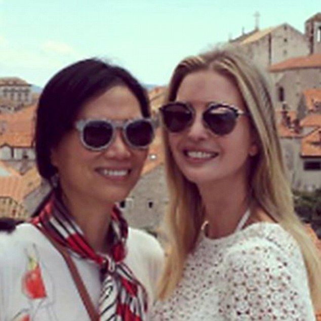 In August, Ivanka posted this photograph of herself and Ms Deng on holiday in Croatia