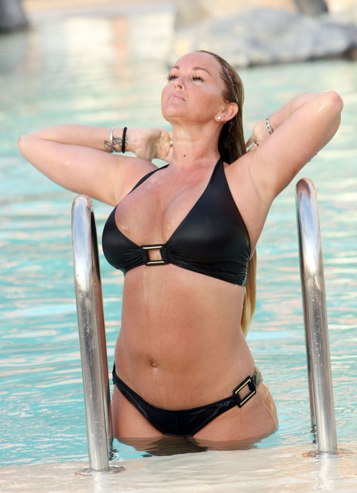 JENNIFER ELLISON in Bikini at a Pool in Tenerife