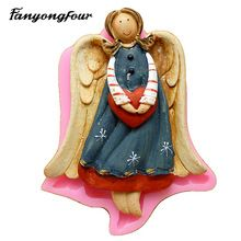 3D Love Angel Silicone Mold Cake Mold Chocolate Gypsum Candle Soap Candy Mold Kitchen Bake Free Shipping(China)