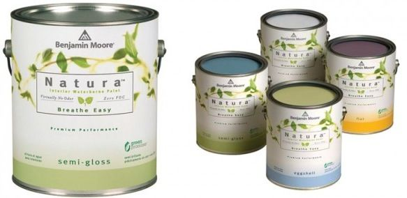 """Ben Moore's Natura Waterborne Interior Paint provides the most environmentally friendly paint. Natura Paint emits lower total VOCs than other national zero-VOC products on the market, all without compromise to performance or color selection. Natura is truly """"Green Without Compromise®.""""                                        Available in Flat, Eggshell and Semi-Gloss"""
