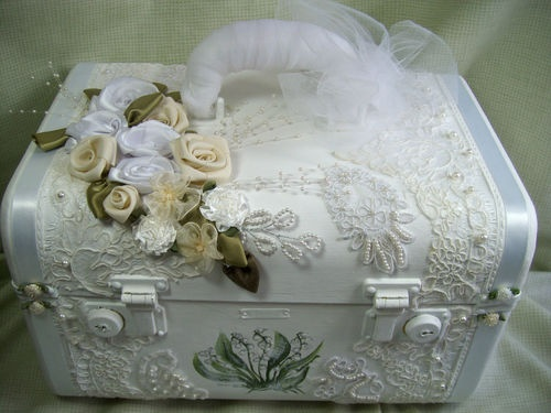 Bridal Memory Train Case - Handpainted - whites and creams - Vintage - Bride | eBay, great idea!!!!