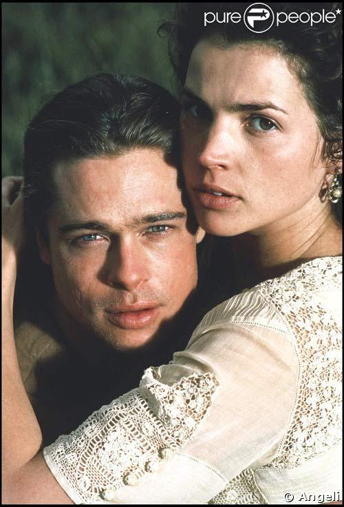 Julia Ormond et Brad PItt en 1994 Dans ? réponse : Légendes d'Automne (superbe film !)