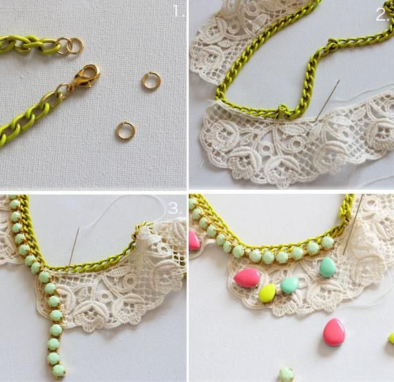 112 best images about como hacer collares on pinterest - Como hacer trapillo ...