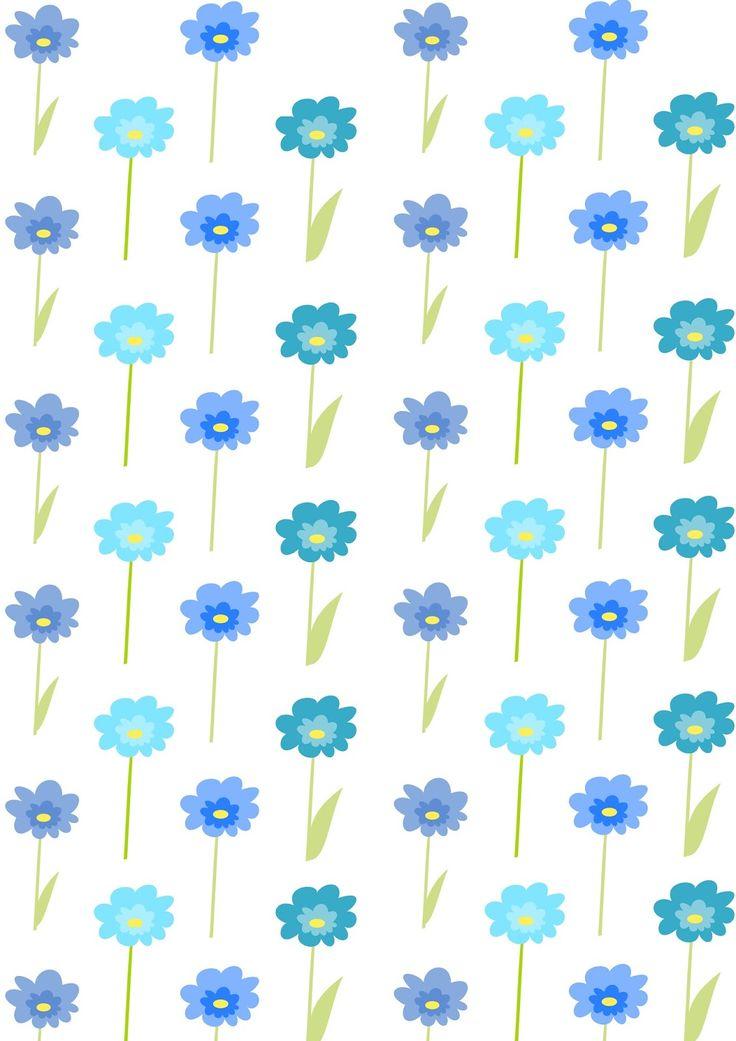Free digital floral scrapbooking paper : blue flowers - ausdruckbares Geschenkpapier - freebie | MeinLilaPark – DIY printables and downloads
