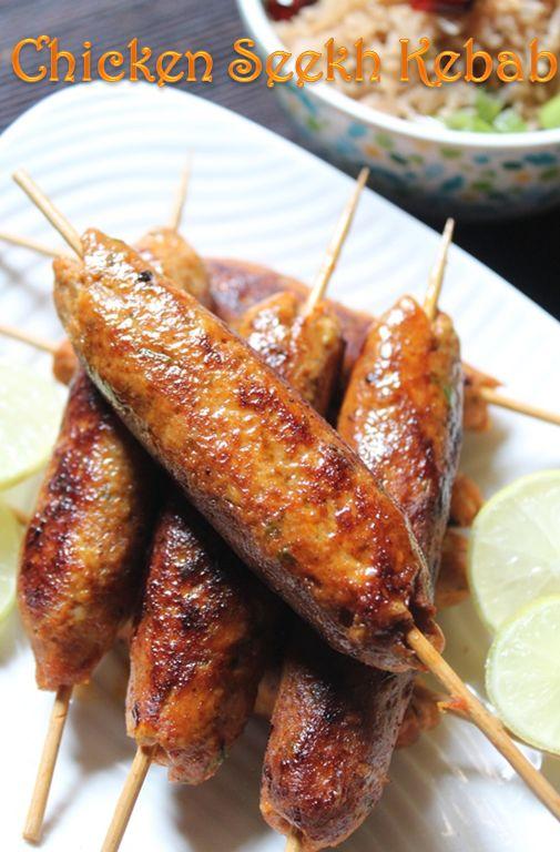 YUMMY TUMMY: Easy Chicken Seekh Kebab Recipe / Chicken Seekh Kabab Recipe