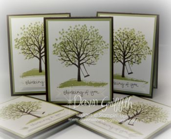 Sheltering Tree cards for hostess Laura #1