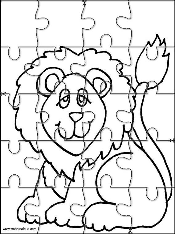 Printable jigsaw puzzles to cut out for kids Animals 41