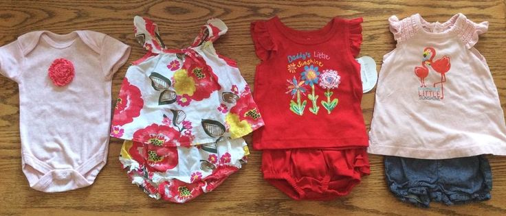 Baby Girl Lot Newborn 0-3 Months Outfits Summer Two Piece Sets Rompers Dress #MixedLot #EverydayDressy